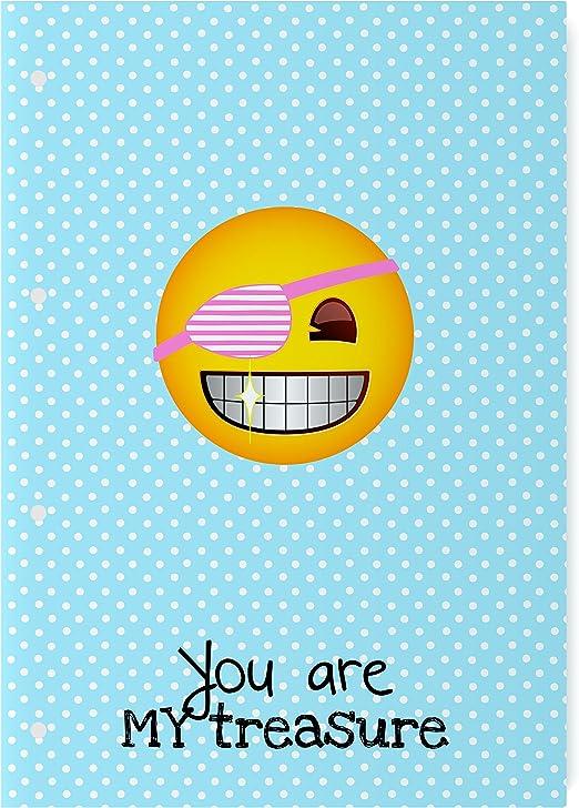 El Jardin de Noa EBN1002A - Cuaderno engomado: Emoji By Noa: Amazon.es: Oficina y papelería