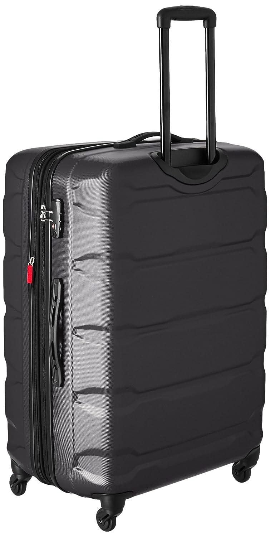 amazoncom samsonite omni pc hardside spinner 20 24 28 black 3 piece set luggage sets