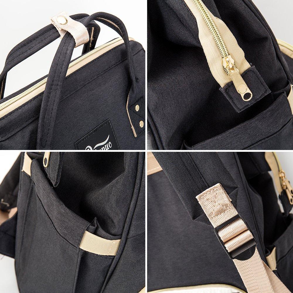 5692b37edd8d Amazon.com : Happyyous Diaper Bag Multi-Function Waterproof Travel ...