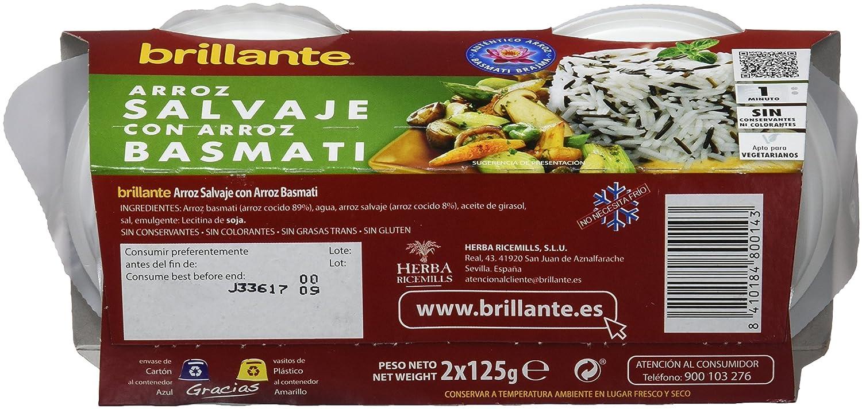Brillante Vasito Arroz Salvaje con Basmati - Paquete de 2 x 125 gr - Total: 250 gr: Amazon.es: Alimentación y bebidas