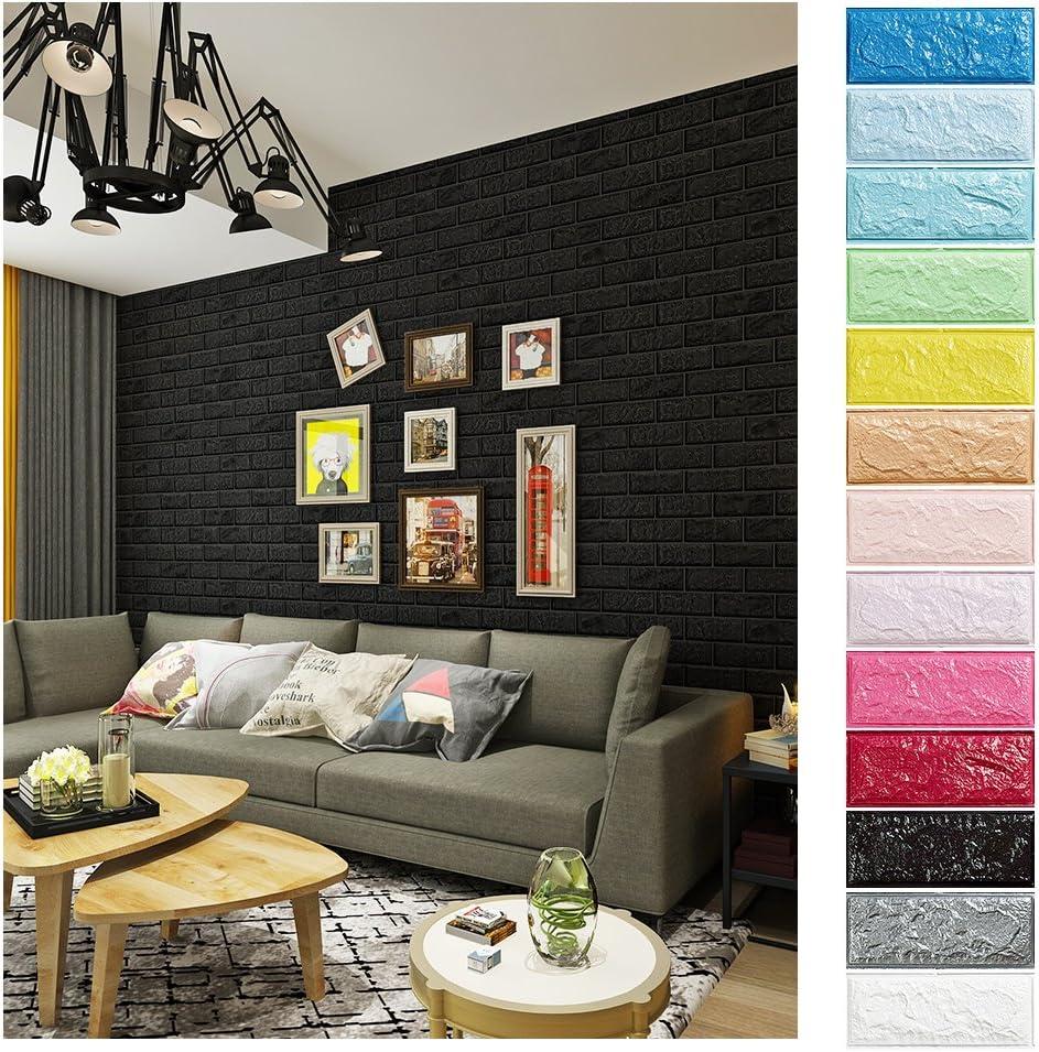 Ladrillos pared distintos colores