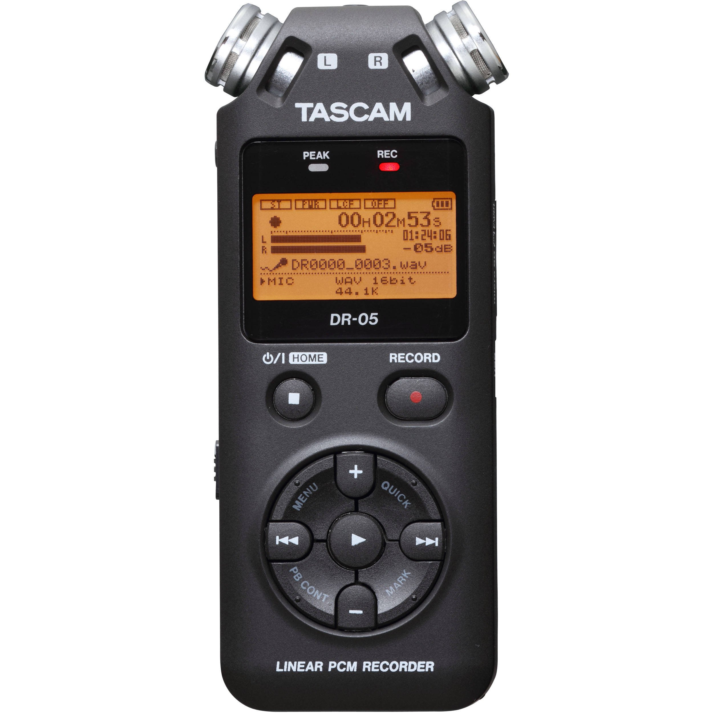 Tascam DR-05 (Version 2) Portable Handheld Digital Audio Recorder (Black) with Deluxe accessory bundle by Tascam (Image #2)