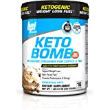 BPI Sports Keto Bomb Ketogenic Creamer for Coffee and Tea With MCT Oil, Saffron and Avocado Oil Powder to Support Weight Loss, Caramel Macchiato, 18 Servings