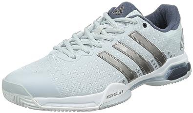 adidas Men's Barricade Team 4 Tennis Shoes Grey Gris (Clear Grey S12/Tech  Silver