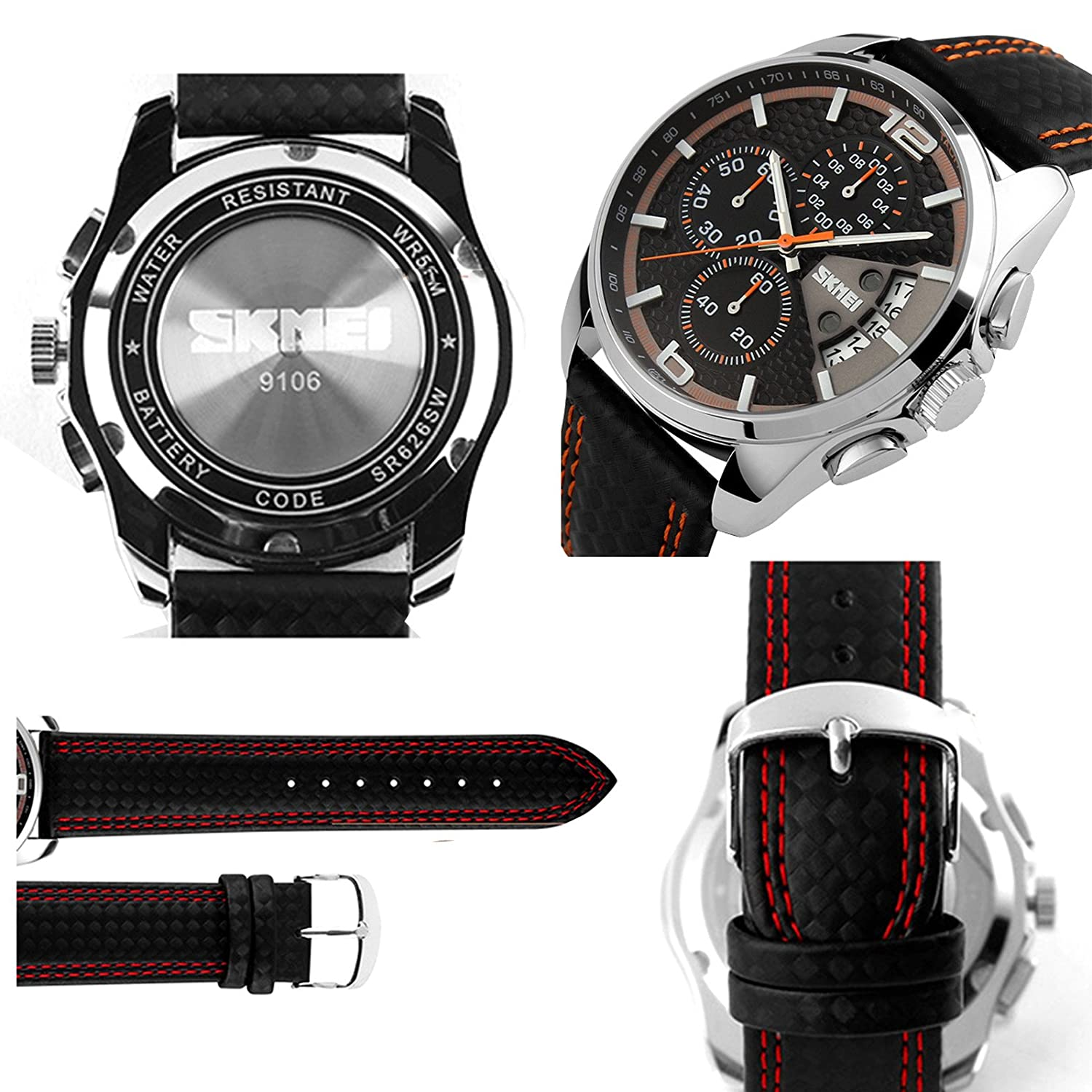 Amazon.com: Relojes de Hombre Sport LED Reloj Hombre Digital Military Water Resistant Watch Digital Men RE0026: Watches