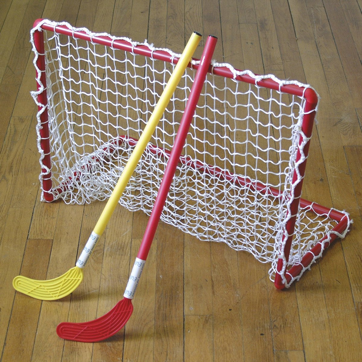 2 x Eurohoc Plastic Goals With Nets and Carry Bag 90cm x 60cm x 45cm rrp£105