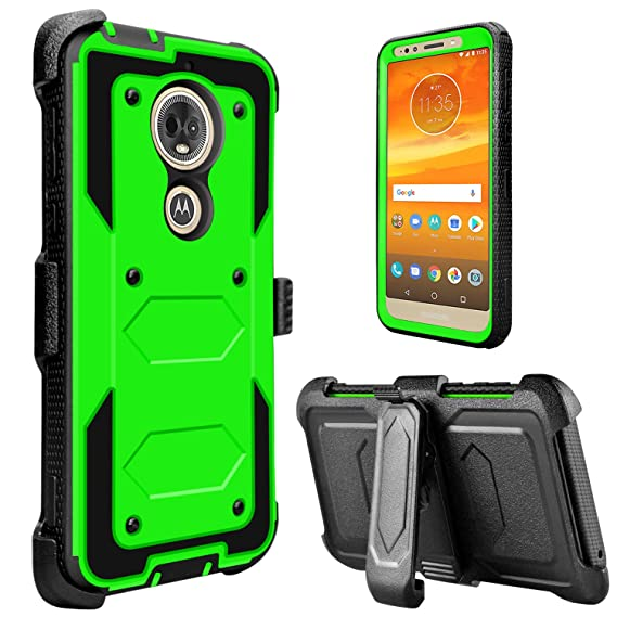 check out e0fa4 85257 Moto E5 Play Case, Moto E5 Cruise Case, lovpec [Holster Series] Full Body  Heavy Duty Shockproof Rugged Protective Case Cover with Kickstand and Belt  ...