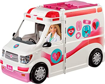 Oferta amazon: Barbie Ambulancia Hospital 2 en 1, accesorios de muñecas (Mattel FRM19)