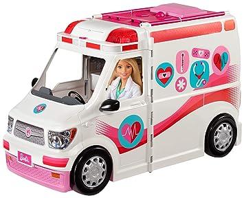 Barbie FRM19 2 in 1 Krankenwagen, aufklappbares Fahrzeug