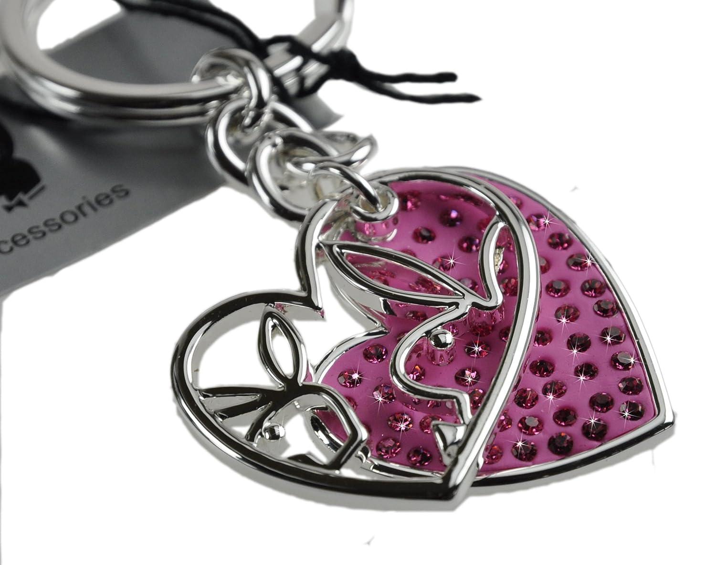 Playboy-Llavero 2 teilig Rosa con forma de corazón, de ...
