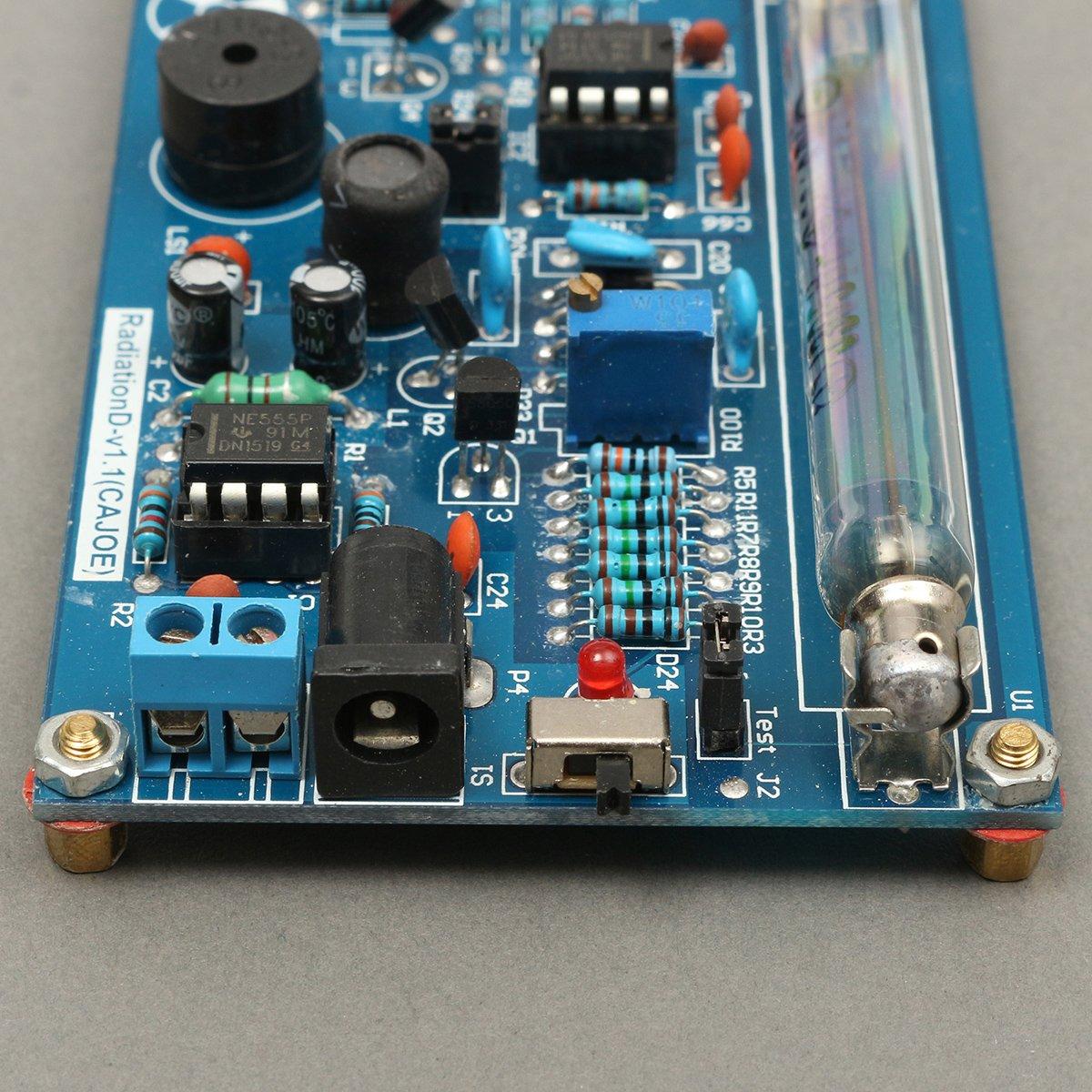 Bluelover Ensamblado Contador de Kit de Geiger de DIY módulo Miller Tubo Detector de radiación Nuclear: Amazon.es: Hogar
