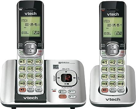 Vtech CS6529 – 2 dos teléfono teléfono inalámbrico con sistema de respuesta digital: Amazon.es: Electrónica