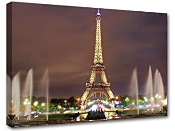 Stampe Arredo Cucina : Parigi tour eiffel di notte arredo design quadro moderno stampe su