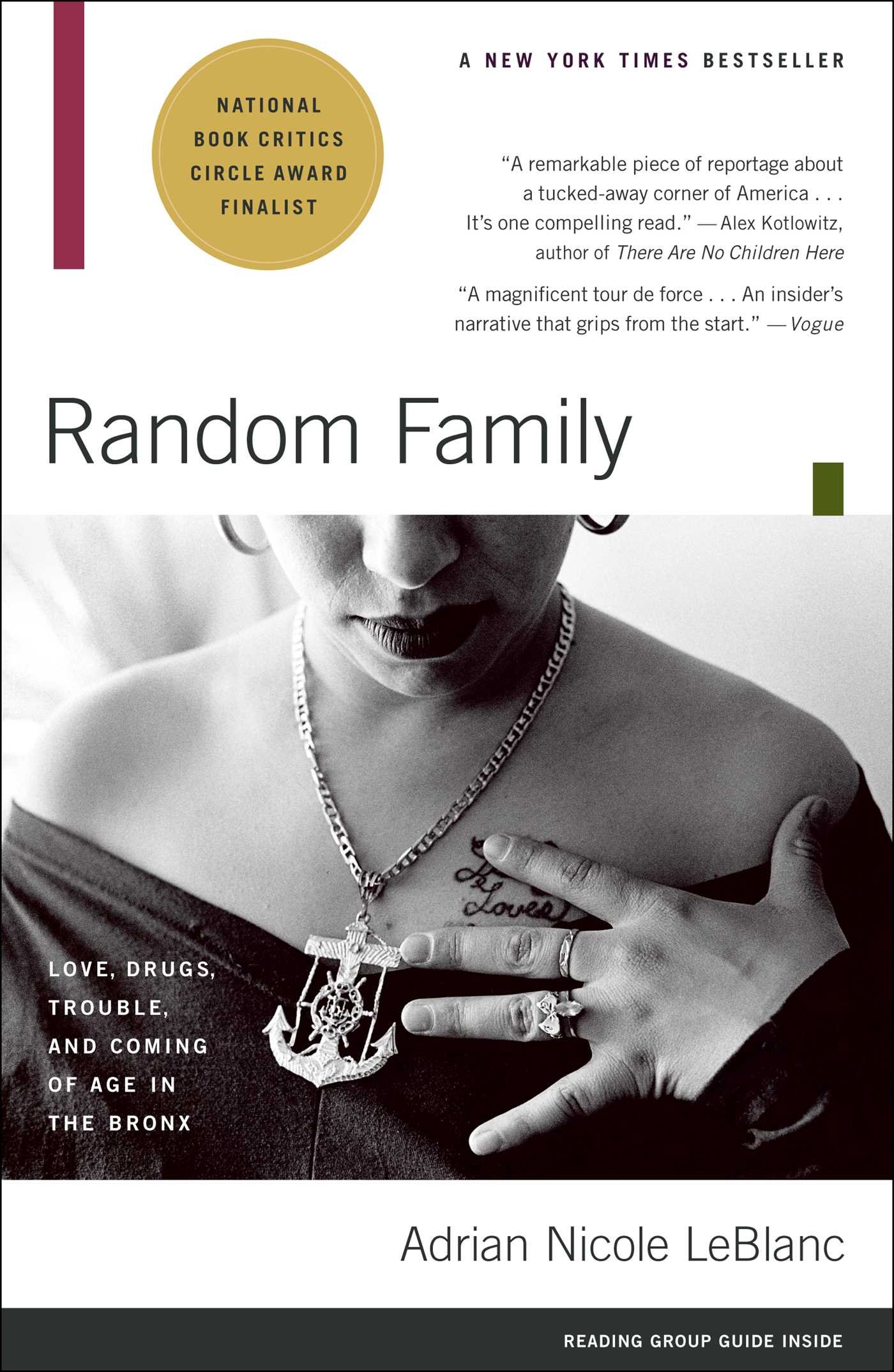 Random family love drugs trouble and coming of age in the bronx random family love drugs trouble and coming of age in the bronx adrian nicole leblanc 9780743254434 amazon books fandeluxe Images