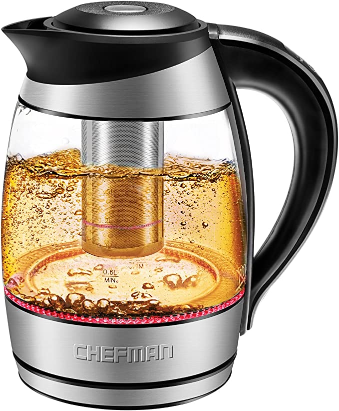 Chefman Glass Electric Kettle Temperature Control