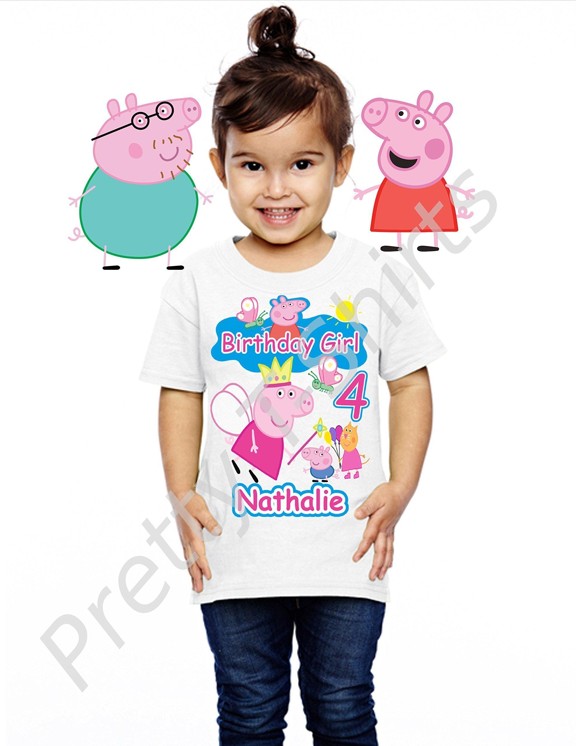 Peppa Pig Birthday Shirt, ADD any name and ANY age, Girl Birthday Shirt, FAMILY Matching Birthday Shirts, Birthday Shirts, Peppa Birthday Shirt, Peppa Shirt, Peppa Pig, VISIT OUR SHOP!!,
