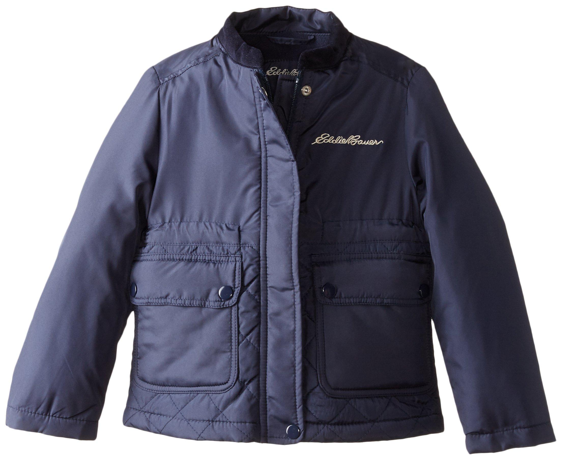 Eddie Bauer Little Girls' Jacket (More Styles Available), Navy-IIIBGA, 4
