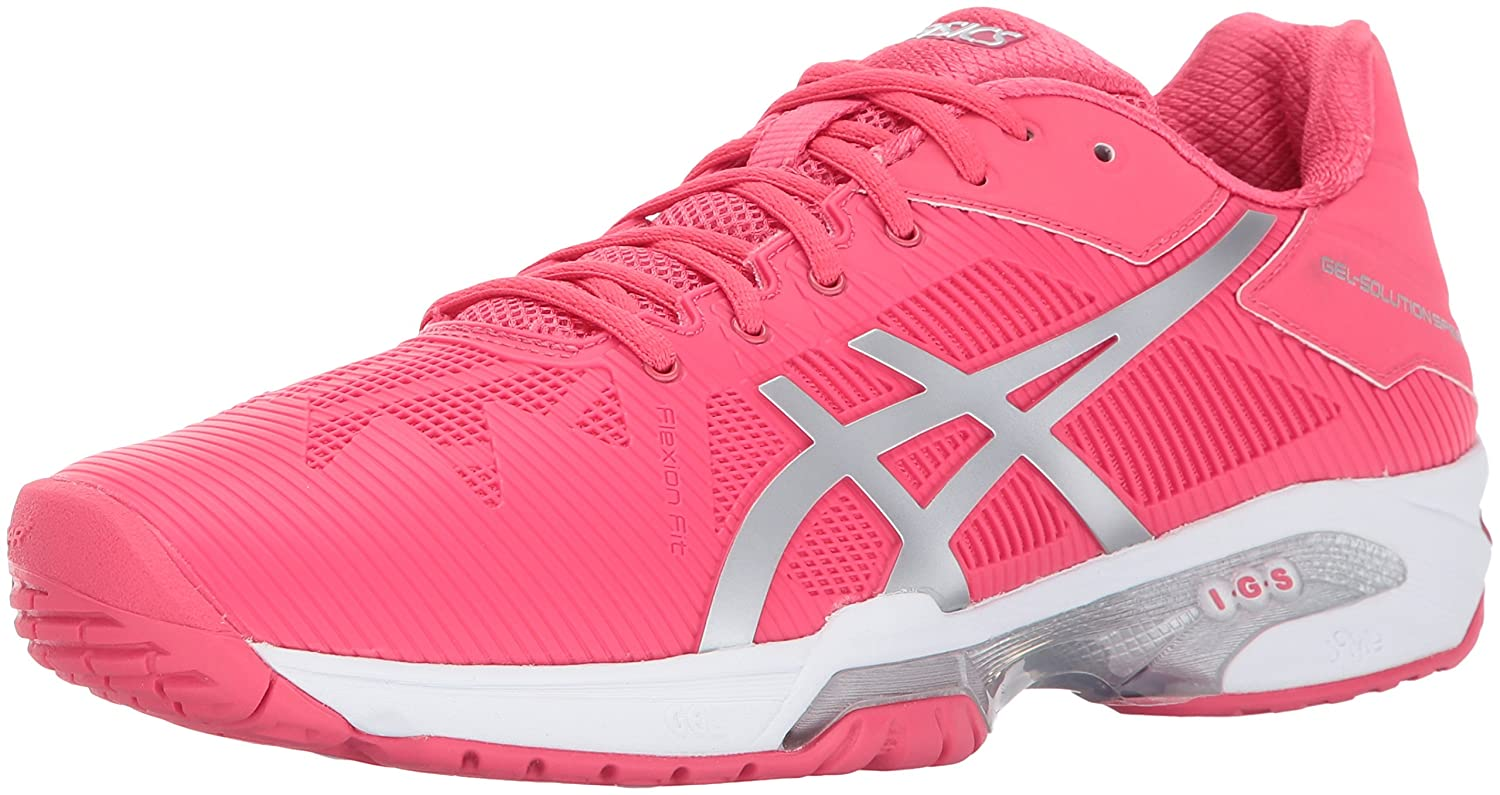 ASICS Women's Gel-Solution Speed 3 Tennis Shoe B01N0BLWP3 5.5 B(M) US|Rouge Red/Silver/White