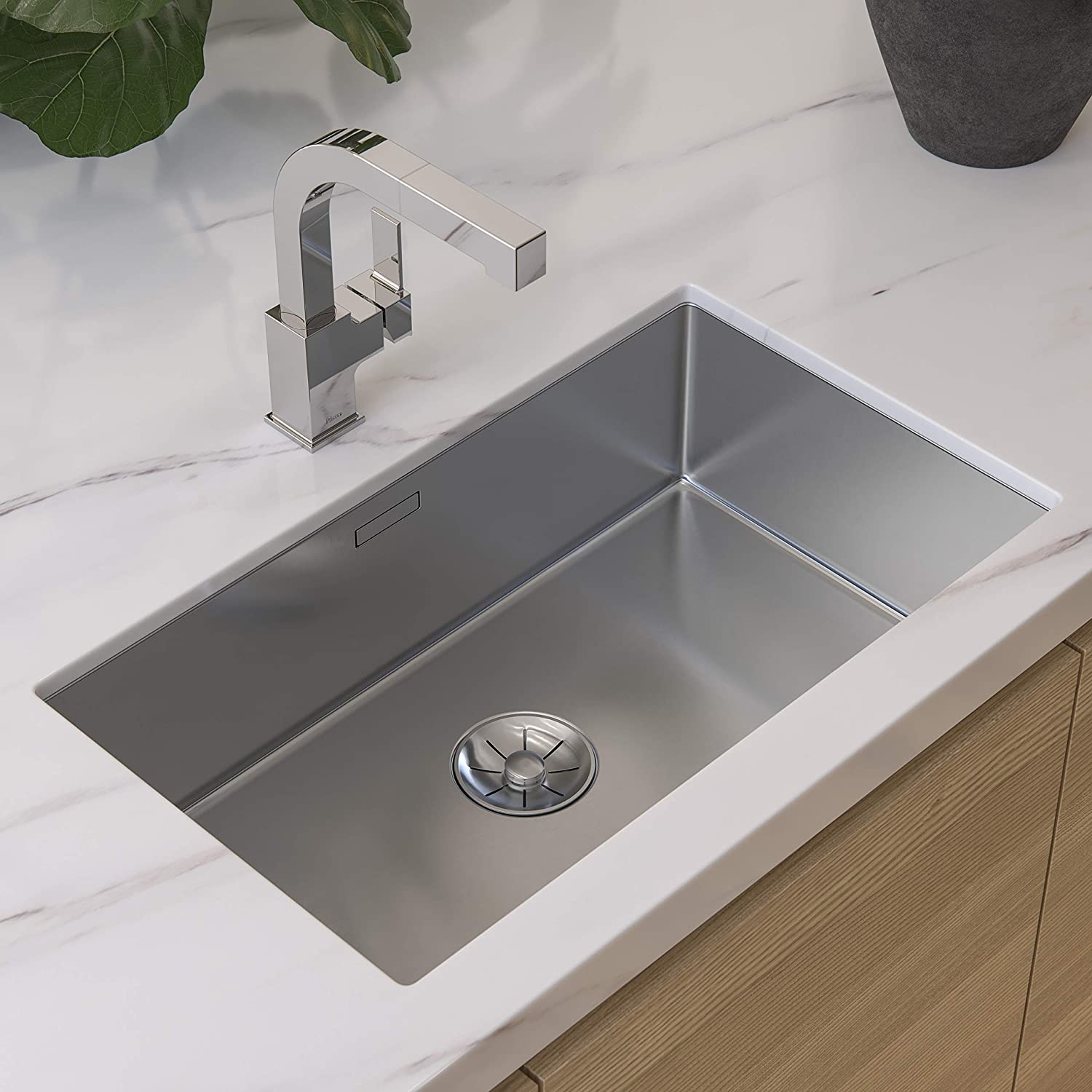 Pfister LG534-LPMC Arkitek Kitchen Faucet With Pull-Out Sprayhead, Polished Chrome - -