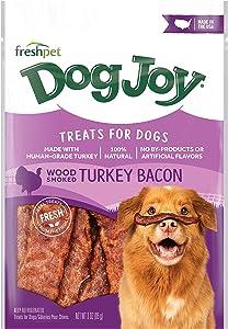 Freshpet Dog Joy Treats for Dogs, Wood Smoked Turkey Bacon, 3 Oz