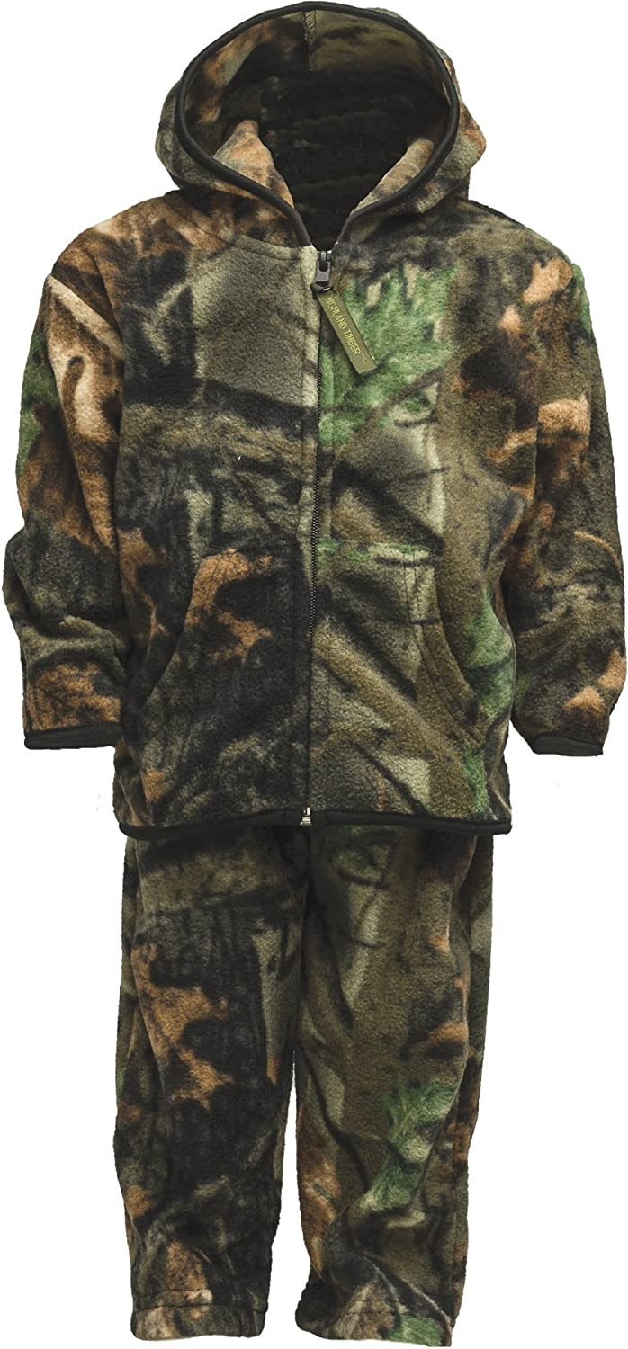 TrailCrest Infant - Toddler Camo Two Piece Fleece Jacket & Pants Set: Clothing