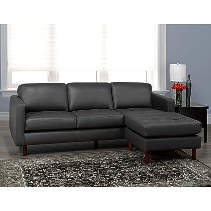 Amazon.com: Overstock Lou Mid Century - Sofá de piel, diseño ...