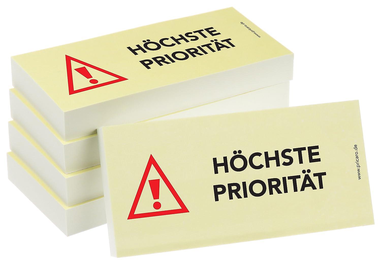 "100 Blatt 5 Stück PRICARO Haftnotizen /""Neue Bankverbindung/"""