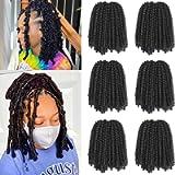 Xtrend Black Spring Twist Hair Bomb Twist Braiding Hair 90strands Passion Twist Hair for Butterfly Locs Crochet Braids…