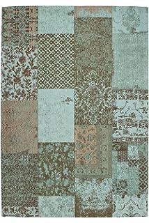 Teppich Wohnzimmer Carpet Modernes Design Patchwork RUG Symphony 160 Trkis Chenille 160x230cm