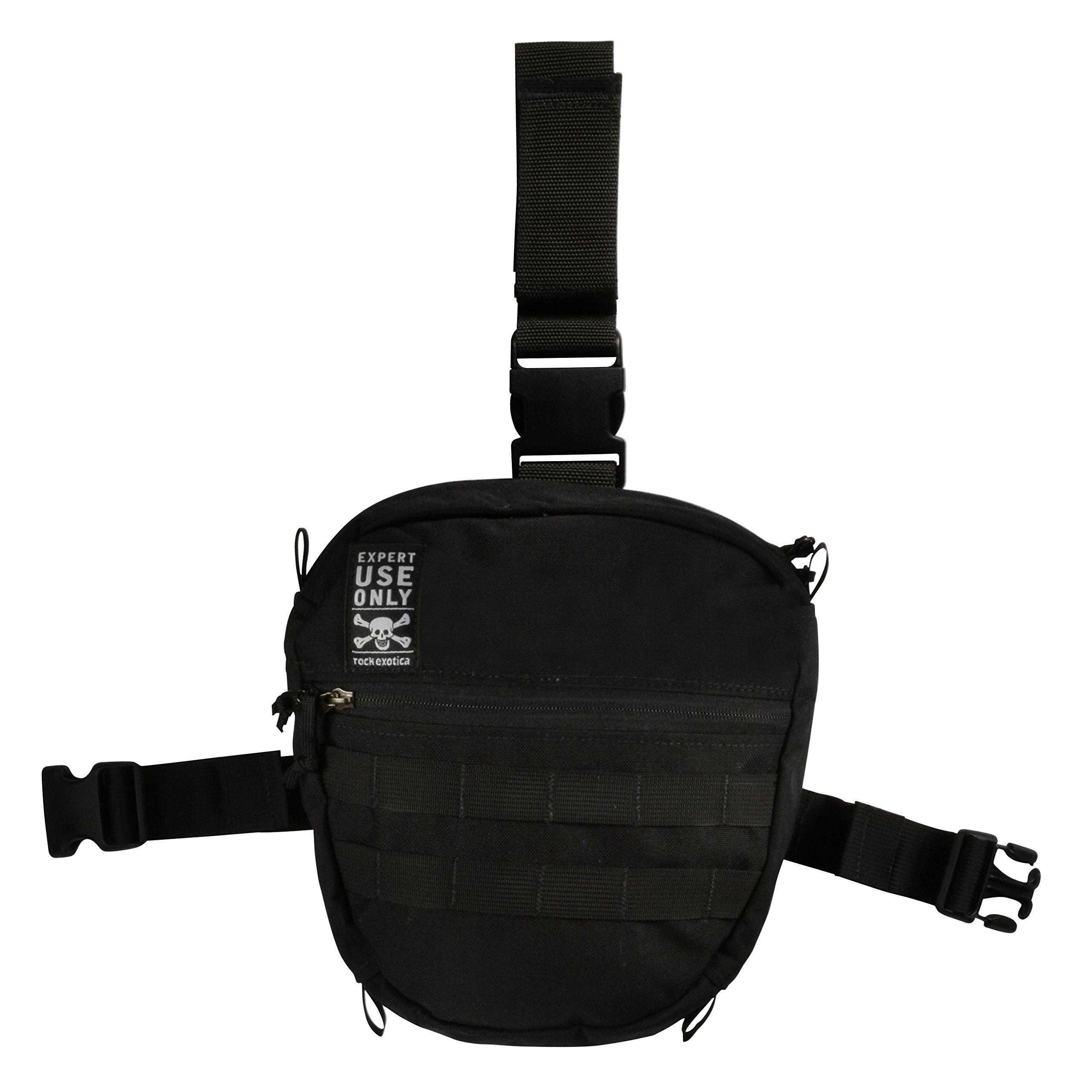 Rock Exotica Large Black Aztek Pro Leg Bag P41BAGPRO