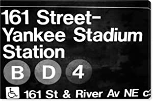 The Oliver Gal Artist Co. Cities and Skylines Wall Art Canvas Prints 'Yankee Stadium' Home Décor, 24