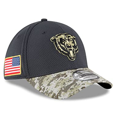 557028d1d New Era Men s NFL Chicago Bears 16 Salute to Service Sideline Hat Camo Size  Small