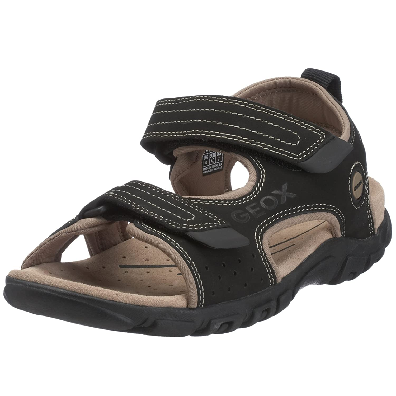 Geox Herren Sandale, U7124U 03514 C0210, EU 42, blacksand