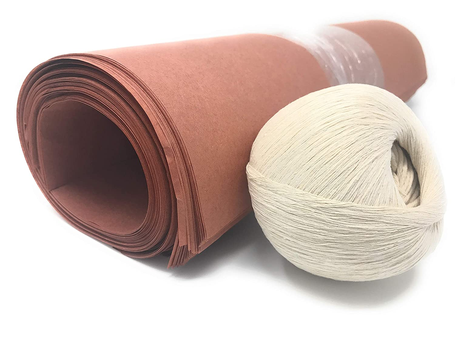 Peach Butcher Paper Sheets - 18 x 24, Best for Smoking Meat - 100 Sheets Plus Bonus Roll of Butcher Twine