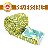 Divine Casa Microfibre Comforter/Blanket/Quilt/Duvet Lightweight, All Weather Single Comforter, Abstract- Yellow and Green