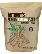 Anthony's Cassava Flour 100% Pure from Yuca Root, Batch Tested Gluten Free, Non-GMO, 908g