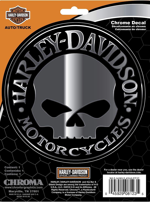 Chroma 8123 Harley-Davidson Skull Classic Emblem Decal