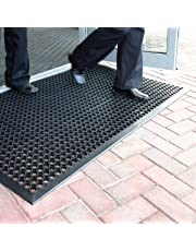BiGDUG Large Outdoor Rubber Entrance Mats Anti Slip Drainage Door Mat Flooring - 3