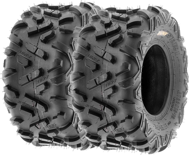 New MASSFX 2 22x10x10 Sport ATV Tires 22x10-10 Rear 2 Set 4 ply 22x10//10