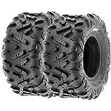 Set of 2 SunF Power.II 22x10-10 ATV UTV Off-Road Tires, All-Terrain, 6 PR, Tubeless A051