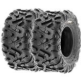 Set of 2 SunF Power.II 16x8-7 ATV & Go-Kart Off-Road Tires, All-Terrain, 6 PR, Tubeless A051