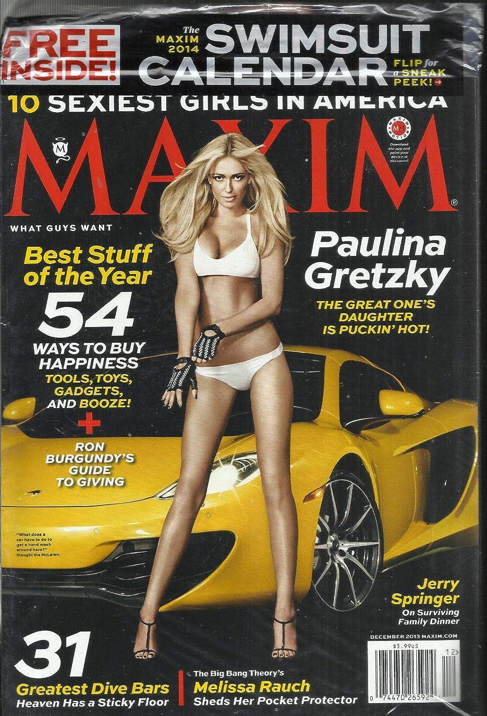 MAXIM MAGAZINE 2013 ISSUE # 189 10 SEXIEST GIRLS IN AMERICA DECEMBER
