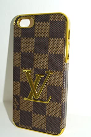 competitive price 787c2 6d02e NEW STYLISH LUXURY GOLD FASHION PU LEATHER iPhone 4/4S Cover , Case + FREE  Clear Anti Scratch LCD Full body Screen Protector (LV Brown Checker)