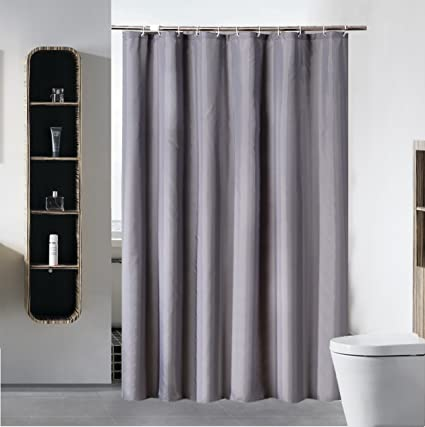 SLattye Shower Curtain Liner For Bathroom Water Repellent Fabric Mildew Resistant Washable Cloth