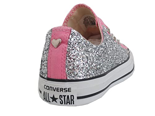 2converse rosa glitter