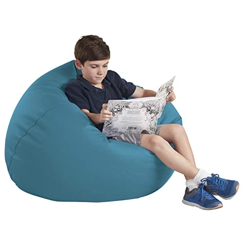 FDP SoftScape Classic 35 Junior Bean Bag Chair, Furniture for Kids, Perfect for Reading, Playing Video Games or Relaxing, Alternative Seating for Classrooms, Daycares, Libraries or Home – Teal