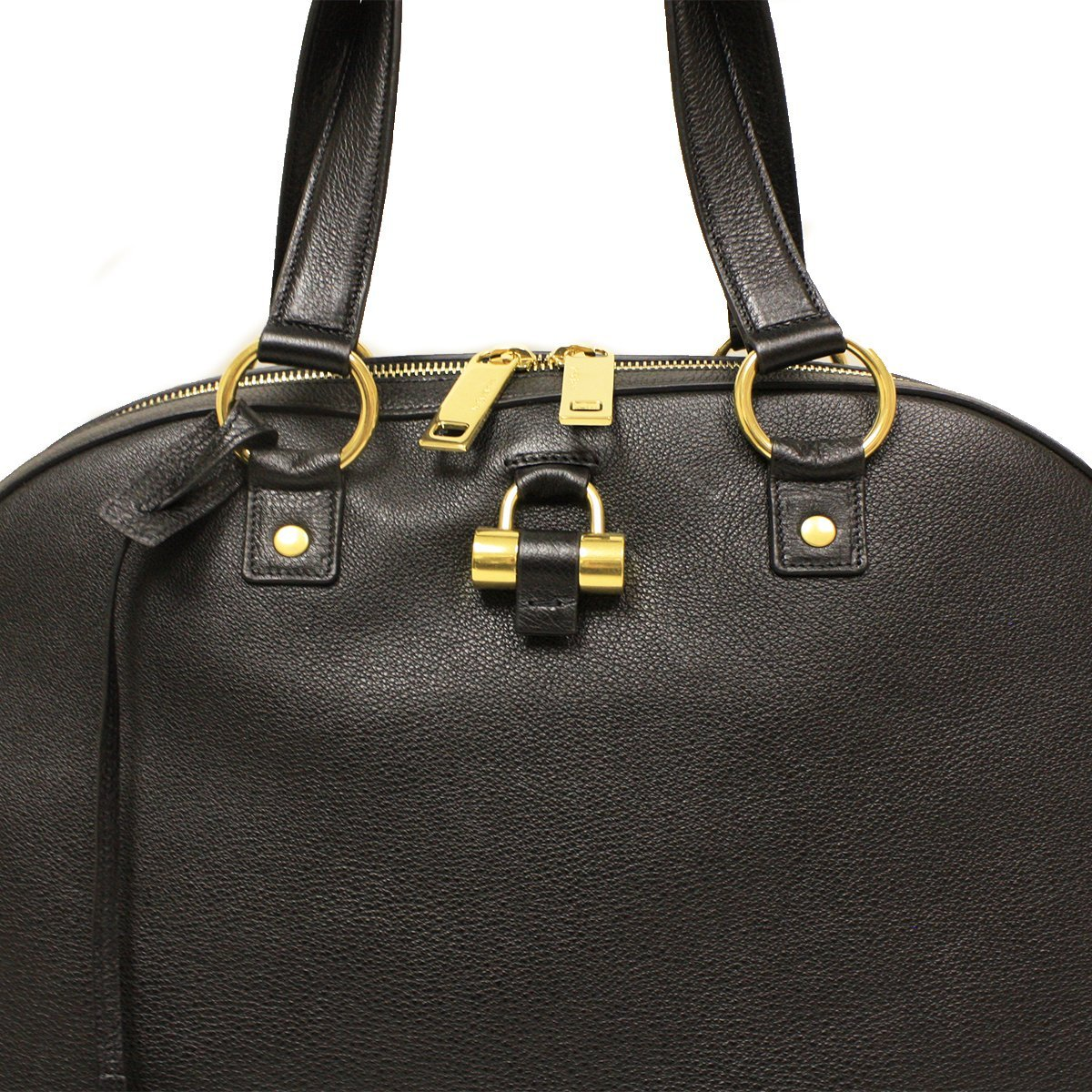 77df5df1c9 Saint Laurent Yves YSL Black Leather Oversized Muse Dome Satchel Top Handle  Shoulder Bag 368220  Amazon.co.uk  Shoes   Bags