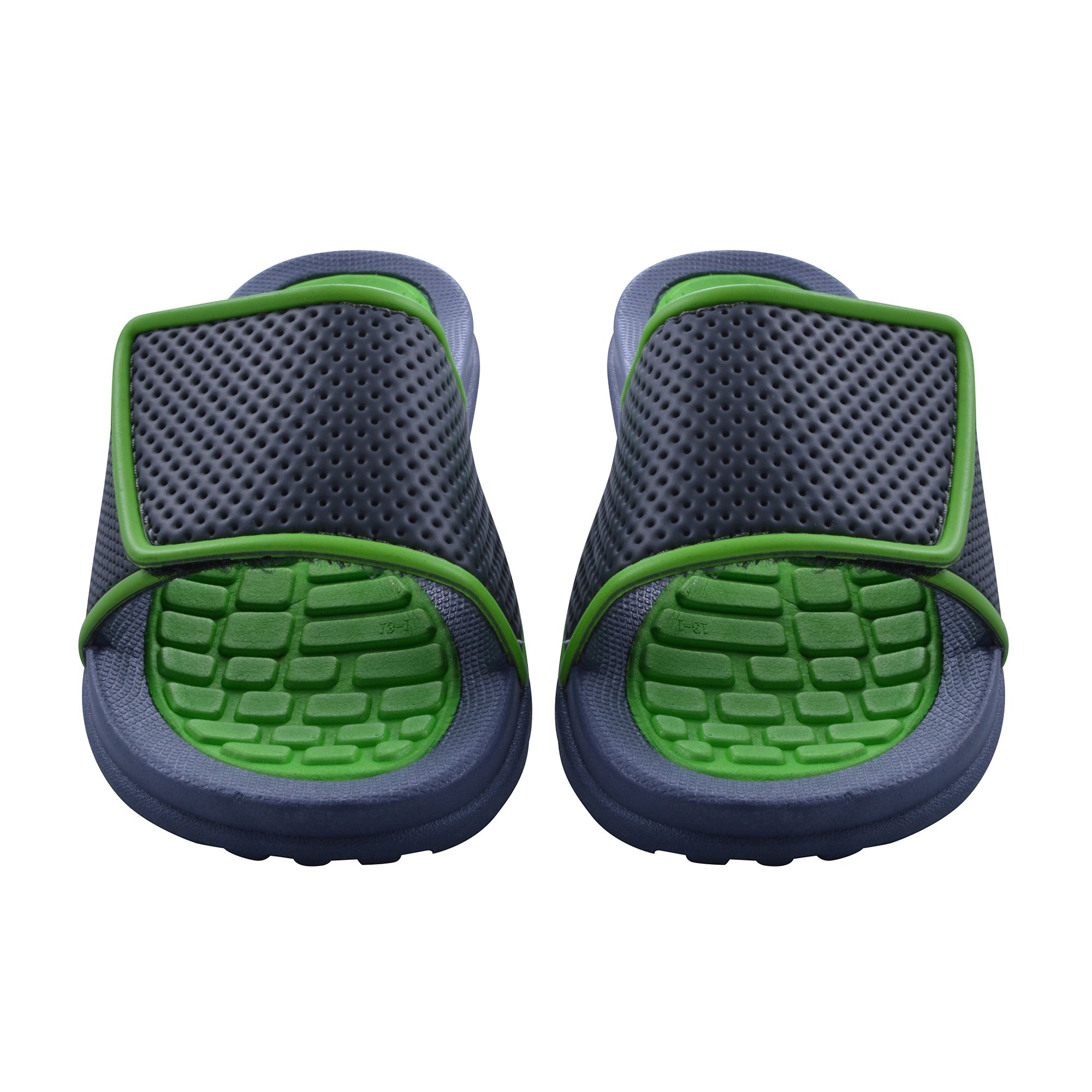 Skysole Boys Rugged Slide Sandal with Velcro Closure in Lime, Size 13/1 US Little Kid