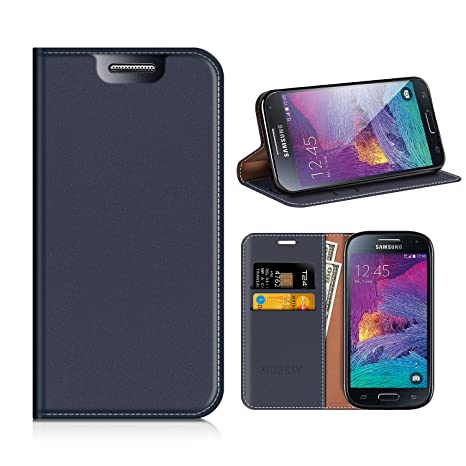 MOBESV Funda Cartera Samsung Galaxy S4 Mini, Funda Cuero ...