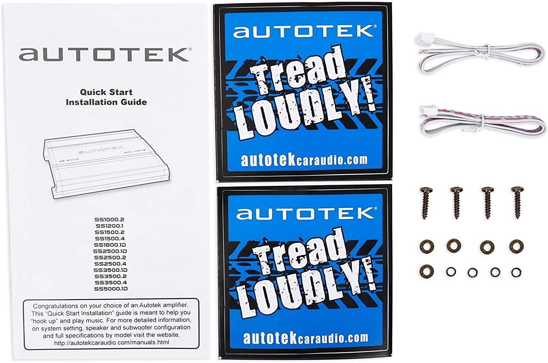 Autotek SS1500.4 Super Sport 1500w 4-Channel Car Audio Amplifier Class A//B Amp